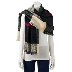 Women's Chaps Plaid Blanket Wrap Scarf