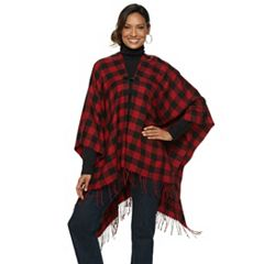 Women's Chaps Buffalo Check Ruana