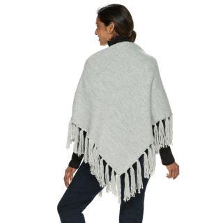 Women's Chaps Patchwork Knit Poncho