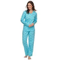Women's Croft & Barrow® Henley Tee & Pants Pajama Set
