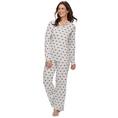 Women's Croft & Barrow® Sleep Tee & Pants Pajama Set
