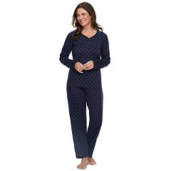 Women's Croft & Barrow® Henley Tee & Pants Pajama Set