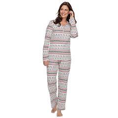 Women's Croft & Barrow® Sleep Tee & Pants Pajama Set
