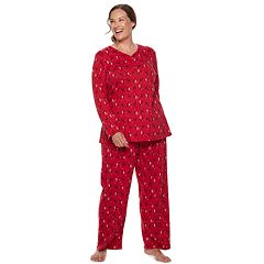 Plus Size Croft & Barrow® Henley Tee & Pants Pajama Set