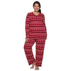 Plus Size Croft & Barrow® Henley Tee & Pants Pajama Set