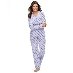 Petite Croft & Barrow® Sleep Top & Pants Pajama Set