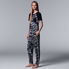 Women's Simply Vera Vera Wang Printed Tee & Pants Pajama Set