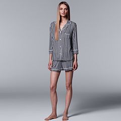 Women's Simply Vera Vera Wang Shirt & Boxer Shorts Set