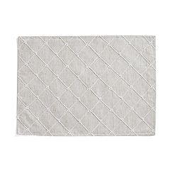 Mainstreet Linen Knot Embroidered Placemat