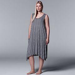 Plus Size Simply Vera Vera Wang Striped Chemise