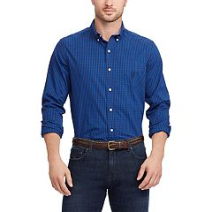 Big & Tall Chaps Regular-Fit Poplin Button-Down Shirt