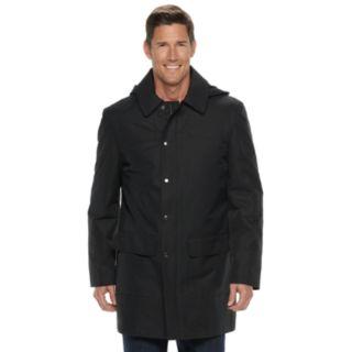 Men's Chaps Black Rain Jacket