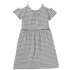 Girls 4-12 OshKosh B'gosh® Striped Cold Shoulder Dress