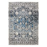 Rizzy Home Panache Transitional Distressed Ornate I Geometric Rug