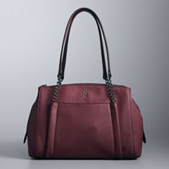 Simply Vera Vera Wang Gibbs Triple Compartment Satchel