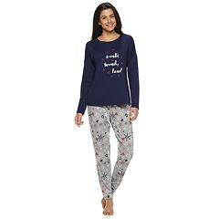 Women's SONOMA Goods for Life™ Holiday Graphic Tee & Joggers Pajama Set