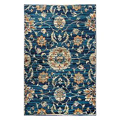 Rizzy Home Xceed Transitional Distressed Floral Rug