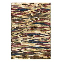 Rizzy Home Xceed Contemporary Wave Striped Rug