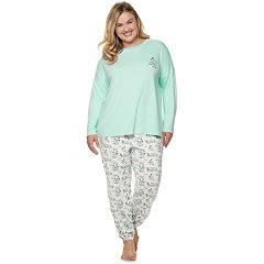 Plus Size SONOMA Goods for Life™ Holiday Graphic Tee & Joggers Pajama Set