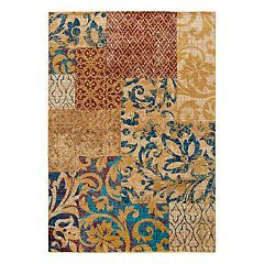 Rizzy Home Xceed Transitional Patchwork Floral Rug