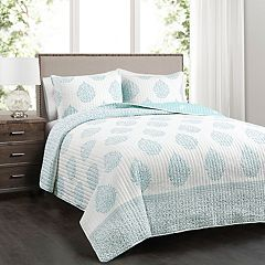 Lush Decor Teardrop Leaf Quilt Set