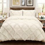 Lush Decor Ruffle Diamond Comforter Set