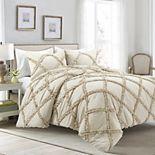 Lush Decor Ruffle Diamond Comforter Set