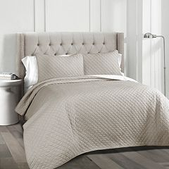 Lush Decor Ava Diamond Oversized Cotton Quilt Set