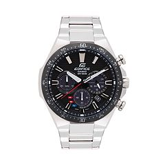 Casio Men's EDIFICE Stainless Steel Solar Chronograph Watch - EQS800CDB-1AV