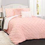 Lush Decor Ravello Pintuck Comforter Set