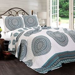 Lush Decor Shaila Medallion Quilt Set