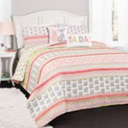 Lush Decor Fox Ruffle Stripe Quilt Set