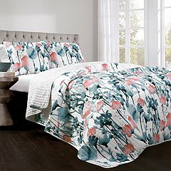 Lush Decor Zuri Flora Quilt Set
