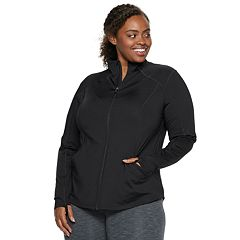Plus Size Tek Gear® Performance Thumb Hole Full Zip Jacket