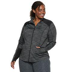 Plus Size Tek Gear® Performance Thumb Hole Full Zip Jacket
