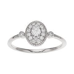 LC Lauren Conrad 10k Gold 1/7 Carat T.W. Diamond Ring