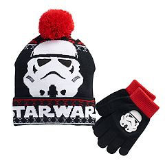Boys 4-20 Star Wars Storm Trooper Hat & Gloves Set