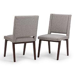 Simpli Home Draper Mid-Century Dining Chair 2-piece Set