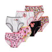 Disney's Minnie Mouse Girl 4-8 7-pack Brief Panties