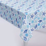 Mainstreet Pattern Seashell Tablecloth