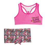 Girls 4-12 JoJo Siwa Seamless Bra & Boyshort Panty Set
