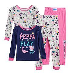 Toddler Girl Peppa Pig Top & Bottoms Pajama Set
