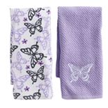 Mainstreet Butterfly Kitchen Towel 2-pack