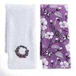 Mainstreet Wreath Kitchen Towel 2-pack
