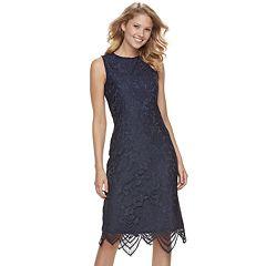 Women's Sharagano Floral Lace Midi Dress