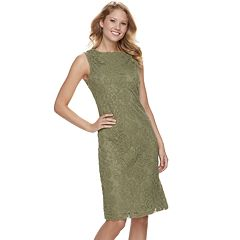 Women's Sharagano Floral Lace Sheath Dress