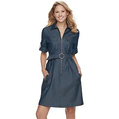 Women's Sharagano Chambray Shirt Dress
