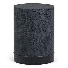 Simpli Home Chad Metal Accent End Table