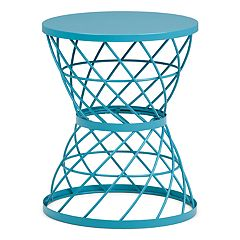 Simpli Home Rodney Metal Accent End Table
