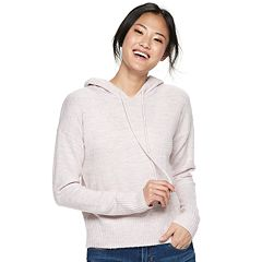 Juniors' SO® Drop Shoulder Sweater Hoodie
